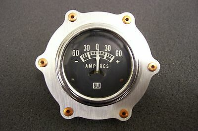 Gauge Aviator Bezel Bomber Dash Copper Rivet Panel Hot Rod Rat Aluminum 2 1/16""