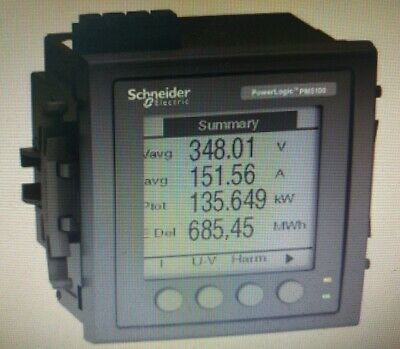Schneider PM5110 POWERMETER WITH MODBUS Upto 15th H, 1DO 33-Alarms, Flush Mount