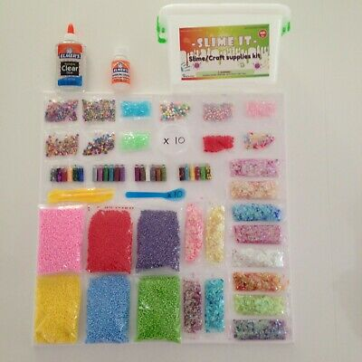 Clear glue and Slime Activator - Slime Supplies Kit 79 Pack for DIY Slime Making