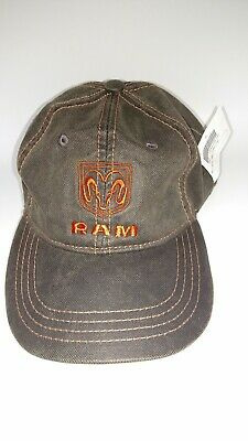 4591265e6a420 New Dodge Ram Adjustable Wax Brown Cotton Hat Cap. Dodge Trucks Ram Logo