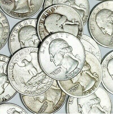 $1 Face Value 90% Silver Washington Quarters | Add-On @ $12.99