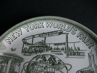 Vintage New York's World's Fair 1964-65 souvenir plate Unisphere Monorail