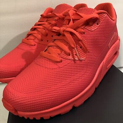 NIKE MEN'S AIR Max 90 HYP Hyperfuse ID Shoes Solar Red SZ 10 [822560 997] DS NEW