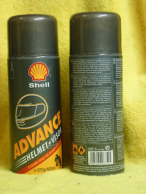Shell Advance Motorcycle Visor & Helmet Cleaner Spray Aerosol Can 400ml