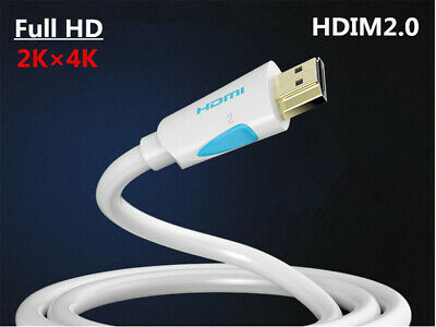 High-Speed HDMI 2.0 GOLD CABLE For PS4/XBox/HDTV/1080P 1/2/5/8/10/15M White