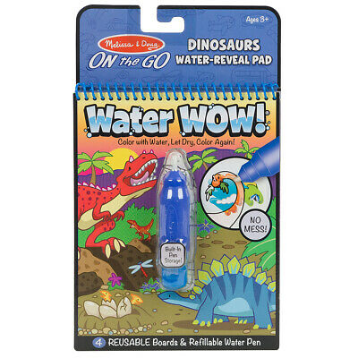 NEW Melissa & Doug Water Wow! Dinosaurs Water-Reveal Pad