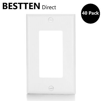 Rocker Light Switch >> 40pcs Decorator 1 Gang Gfci Rocker Light Switch Wall Plate