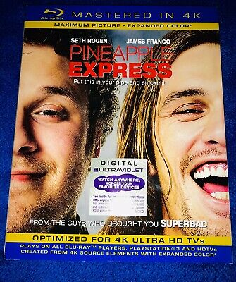Pineapple Express Blu-ray 4K Mastered With Slipcover (2013) NEW! FAST SHIP