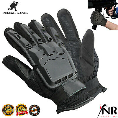 Military Combat Tactical Men's Gloves Hard Shell Army Protection Leather Mittens