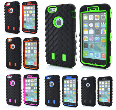 Heavy Duty Tyre Shock Proof Rugged Builder Case Cover For iPhone 8 Plus 7 6s 5 X