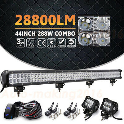 """150W 30"""" Behind Grille LED Light Bar +Wiring Kits For 2014-2018 GMC Sierra"""