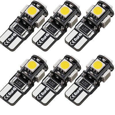 6X T10 Led Canbus Error Free 5 SMD Car Side Wedge light Bulb White 168 194 W5W M