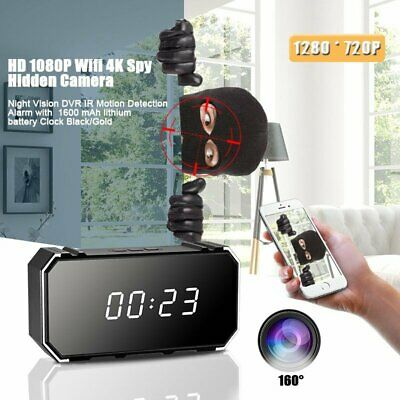 HD 1080P Wifi 4K Spy Hidden Camera Night Vision DVR IR Motion Detection Alarm