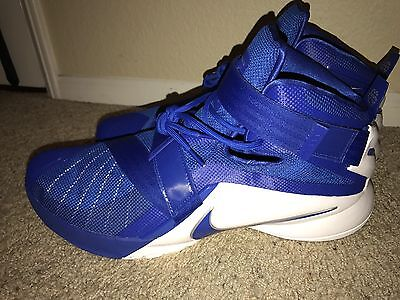3f1c966a991 DS Nike Lebron Soldier IX 9 TB Men Basketball Shoes Blue White 813264-441