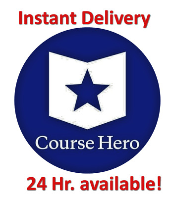 Course Hero Unlock 1 Instant DELIVERY! (coursehero)