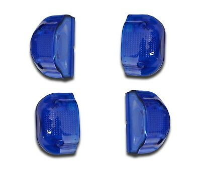 4 x BLUE NUMBER PLATE LAMPS FRONT REAR MARKER LIGHTS TRUCK PICKUP VAN MOTORHOME