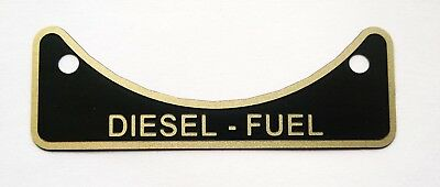 DIESEL FUEL ONLY Land Rover Series 2 3 Defender 90 110 etched fuel tag