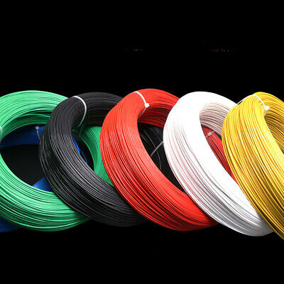 UL1332-28AWG Single Core Multi-strand Tinned Copper Cable Teflon FEP Wire OD 1mm