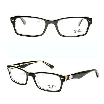 7ecdf0be92 Ray Ban RB 5206 5373 Brown on Transparent yellow 52 18 140 Rx Eyeglasses