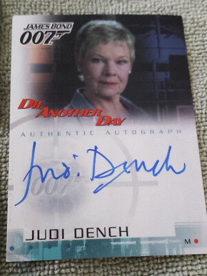 1962-2002 James Bond-Die Another Day - Judi Dench as M Auto Card + commons