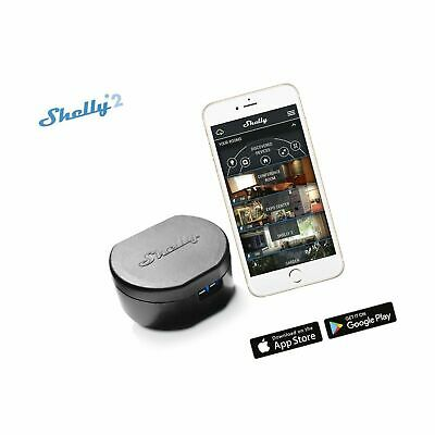 Shelly 2  Channel Smart Relay Switch Open Source Wi-Fi Home Automation