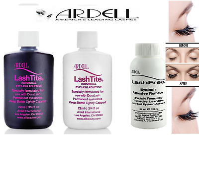 Ardell LashTite Adhesive Glue Lashes 22ml & Remover Largest 59ml Clear or Dark