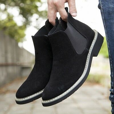 02551fd1c Mens Suede Ankle Boots Desert Pull On Casual Flat Shoes Chelsea Boots  Chukka EUR