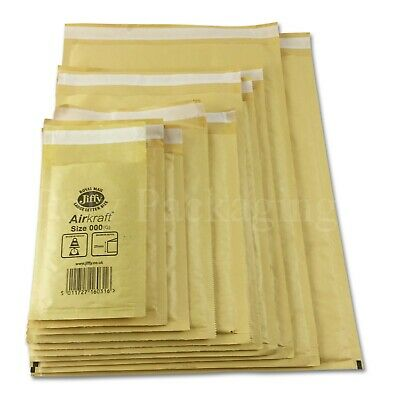 JIFFY GOLD ENVELOPES Bubble Padded Mailing Bags Large letter Any Size Any Qty