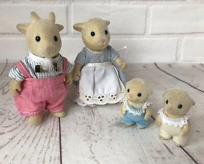 SYLVANIAN FAMILIES NETTLEFIELD Goat Family Tomy Figures Calico