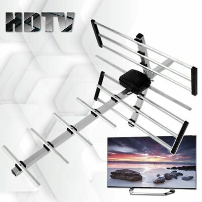 1080P 100 Mile HDTV Outdoor Amplified HD TV Antenna Digital UHF Rotate 360
