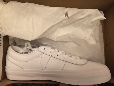 5ba393d98f6a CONVERSE CONS ONE Star CC Pro Ox Size 10 Men All White Leather Shoe 159596C  -  40.00