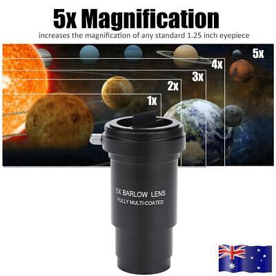 1.25'' 5X Barlow Lens M42 Thread Ful Multi-coated for 31.7mm Telescopes Eyepiece