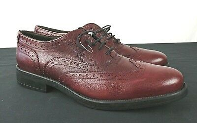 8448639d6fa NEW Boemos 8027 Womens Size 9 Burgundy Leather Wingtip Oxford Made in Italy