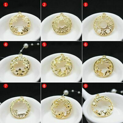 Metal Frame DIY Epoxy Resin UV Crystal Silicone Molds Jewelry Pendant Making