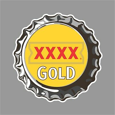 Xxxx Gold Beer Sticker For Mancave Fridge Esky Welder Etc