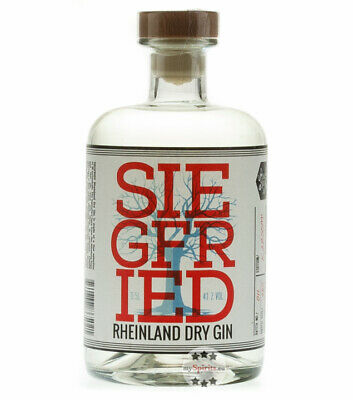 Siegfried Rheinland Dry Gin – Premium London Dry Gin / 41 % vol. / 0,5L Flasche