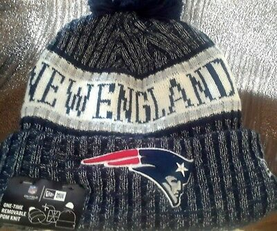 8b8589ffe96e33 New England Patriots New Era Knit Hat On Field 2018 Sideline Beanie  Stocking Cap