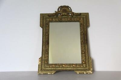 French Vintage Mirror With Carved Detail Louis XVI