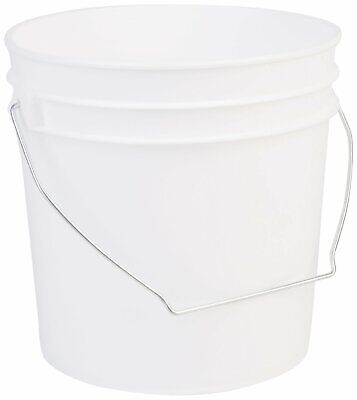 Hudson Exchange Premium 1 Gallon Bucket, HDPE, White, 6 Pack