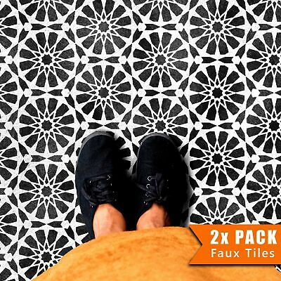 NADOR Moroccan Hexagon Tile - Furniture Wall Floor Stencil for Painting