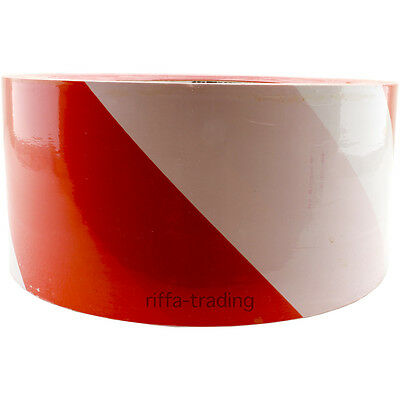 Barrier Tape, Safety Cordon Warning Marking Hazard Tapes, Red White, 70mm x 500m