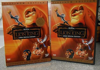 The Lion King (DVD 2003 2-Disc Set Platinum Edition) OFFICIAL DISNEY MINT DISC