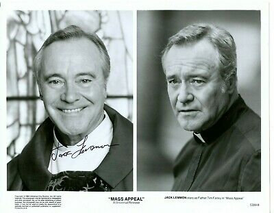 Autographed 8 X 10 Photo Classic Movie Star Jack Lemmon Some Like it Hot