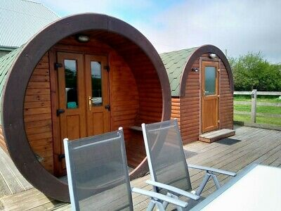 North Cornwall Glamping Pods holiday short break private hot tub & ensuite March