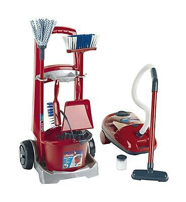 Theo Klein 6742 Vileda Cleaning Trolley with Vacuum Cleaner, Toy, Multi-Col... .