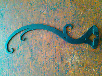 Vintage Flat Iron Swirly Architectural Hardware Hook or Piece
