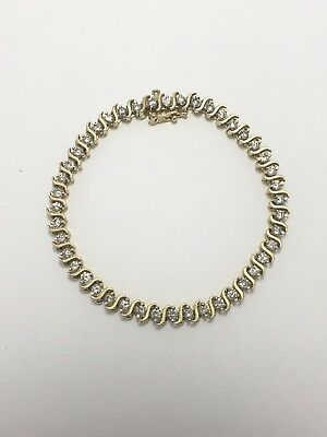 2.5 - 3 Cttw Diamond & 14k Yellow Gold Tennis Bracelet! - Item #11321EMO