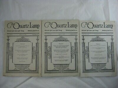 1927 Quack Medicine The Quartz Lamp Booklet Lot Of 3 Issues