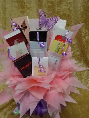 MOTHERS DAY Perfume Flower Bouquet 12 Samples Vials Ribbon Bow or Birthday Gift