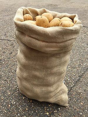 3 x 50kg Extra Large Hessian Jute Veg Potato Storage Sacks Bags Sack Race (New)